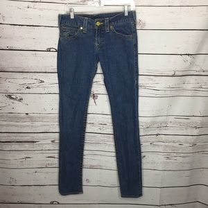 True Religion 30 low rise skinny jeans